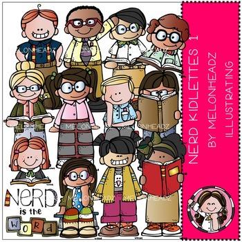 Nerd clip art - kidlettes - COMBO PACK- by Melonheadz