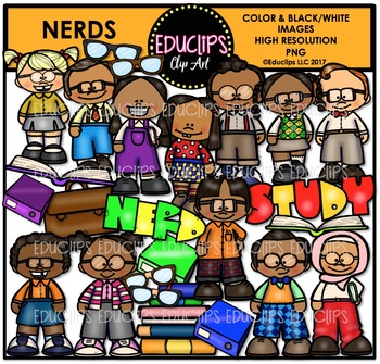 Nerds Clip Art Bundle {Educlips Clipart}