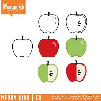 Nerdy Bird | Fall Clipart for CU