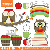 Nerdy Bird | Fall Clipart for CU