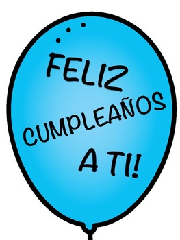Nerdy Birthday Balloons- SPANISH