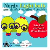 Nerdy Light Bulb Attendance Smartboard