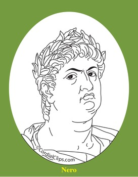 Nero Clip Art, Coloring Page, or Mini-Poster