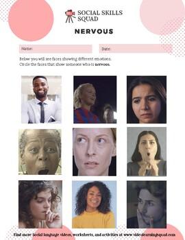Social Skills Squad: Facial Expressions - Nervous