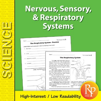 Nervous, Sensory, & Respiratory Systems: Science Reading Comprehension