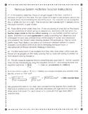 Nervous System Activities Teacher Information