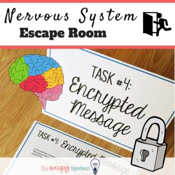 Nervous System Activity.  Escape Room.  Review