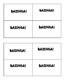 Nervous System Bazinga Review Game