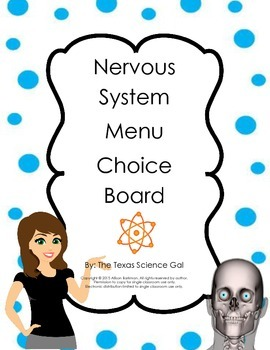 Nervous System Menu Board