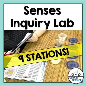 Five Senses Lesson Inquiry Lab Activity - Senses Stations for High School