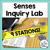 Five Senses Lesson Inquiry Lab Activity - Senses Stations