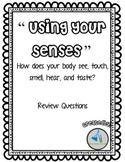 Nervous System -Senses Review Sheet