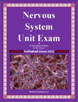nervous system unit test or study guide for human anatomy physiology rh teacherspayteachers com nervous system study guide doc nervous system study guide answer key