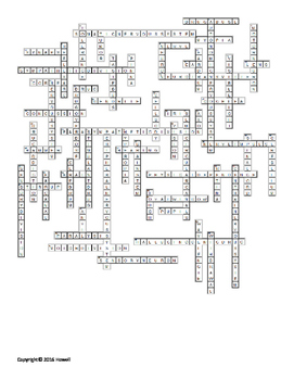 Controlling the Body Vocabulary Crossword for Middle School Science