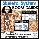 Skeletal System and Bones - BOOM CARDS™ for Distance Learning