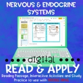 Nervous and Endocrine Systems DIGITAL Read and Apply