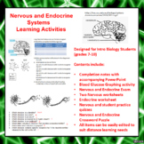 Nervous and Endocrine Systems Lesson Activities