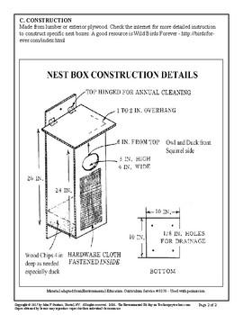 Nest Boxes - A Wood Shop Project