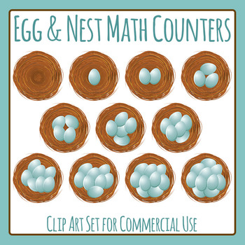 Nest Egg Counters / Maths Clip Art for Commercial Use