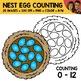 Nest Egg Counting Scene Clipart