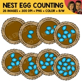 Nest Egg Counting Scene Clipart