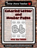 Nest - Theme Coloring Letter and Number 0 - 10 (37 Pages) *s