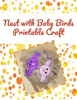 graphic regarding Printable Baby Nest Pattern titled Nest with Youngster Birds Printable Craft as a result of Exciting N Useful TpT