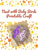 Nest with Baby Birds Printable Craft