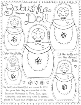 photograph relating to Printable Doll named Nesting Doll Printable