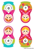 Nesting Dolls Matching Card Game (match upper case letter to lower case letter)