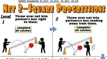 Net 2-Square Quest Hand Striking Skill Progression - 6 Levels!
