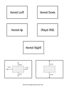 Net Force & Free Body Diagram Activity