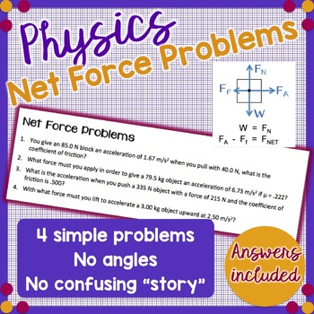 Net Force Problems - Newton's 2nd Law - Physics
