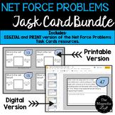 Net Force Problems Task Cards BUNDLE