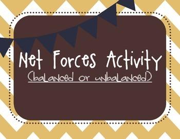 Net Forces Activity (balanced or unbalanced)