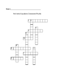 Net Ionic Crossword Puzzle