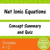 Net Ionic Equations - High School Science