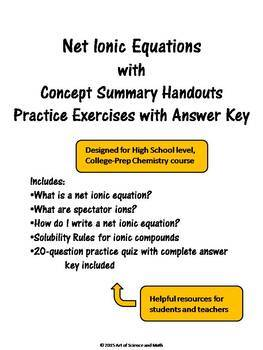 Net Ionic Equations - High School Science
