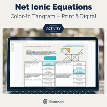 Net Ionic Equtions Color-In Tangram Worksheet