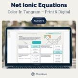 Net Ionic Equations Color-In Tangram Activity Print & Digi