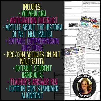 Net Neutrality Nonfiction Argument Analysis