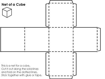 Netted Shapes: Cube Rectangular Prism Triangular Prism Tet