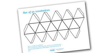 Net of a Icosahedron