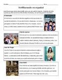 Netflixeando en español (Sub Plans or Fun Activity)
