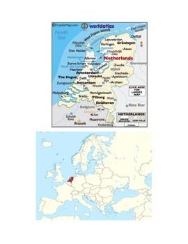 Netherlands Map Scavenger Hunt
