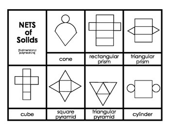 Nets (Picture and Names)  Common Core