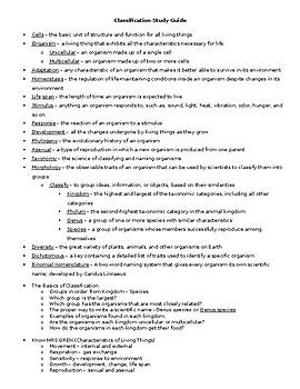 Classification - Grade 6