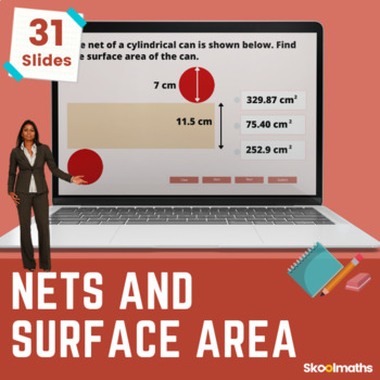 Nets & Surface Area - 7th grade, (UK Year 8, key stage 3)