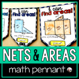 3D Shape Nets, Surface Area and Composite Figures Math Pennant
