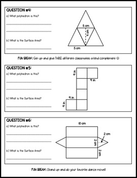 Nets and Surface Area | Activity or Practice